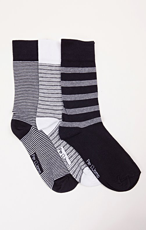 3 PAIRES DE CHAUSSETTES RAYEES