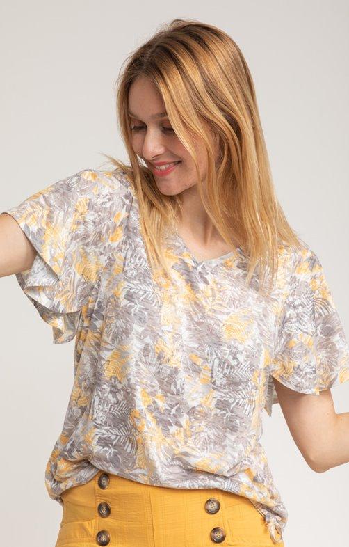 Tee shirt col V