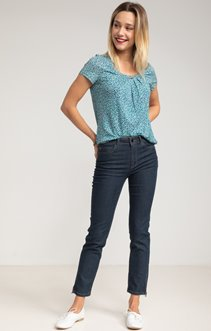 Pantalon denim brut 7/8