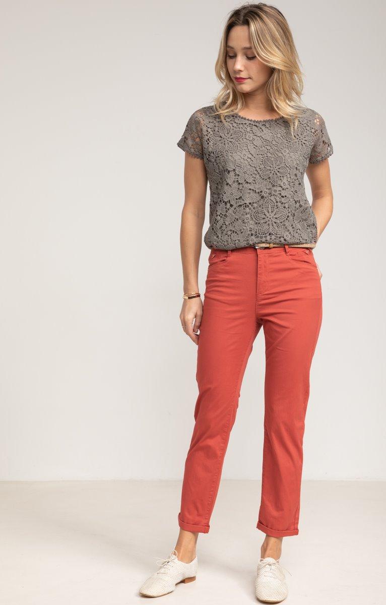 Pantalon chino en coton