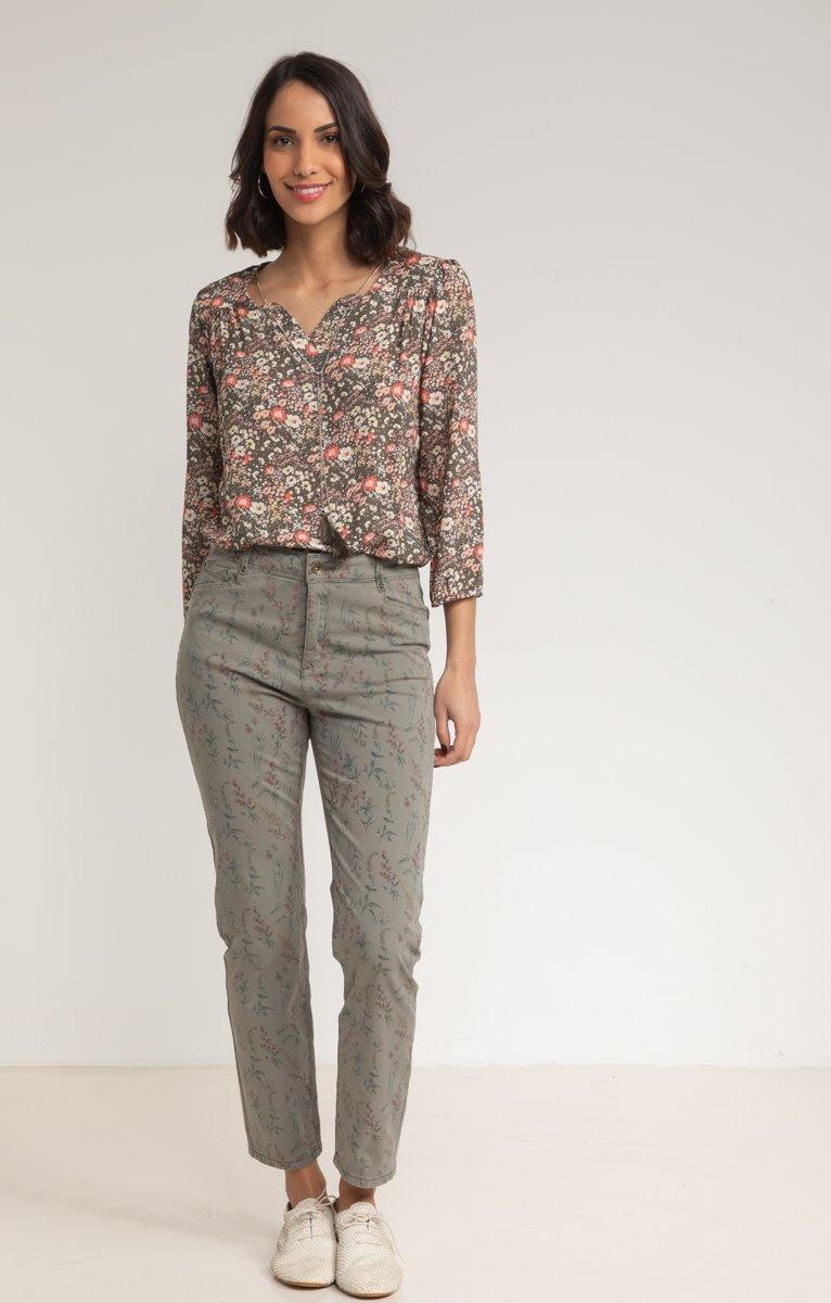 Pantalon Imprimé Coton