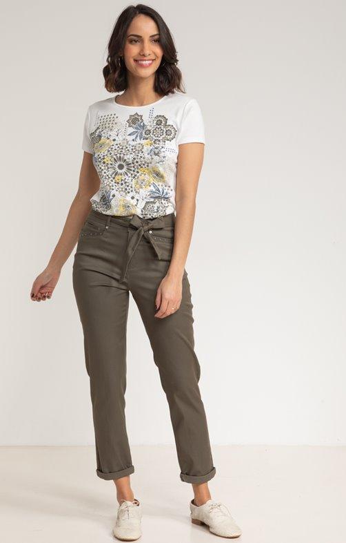 Pantalon 7/8 Chino Coton