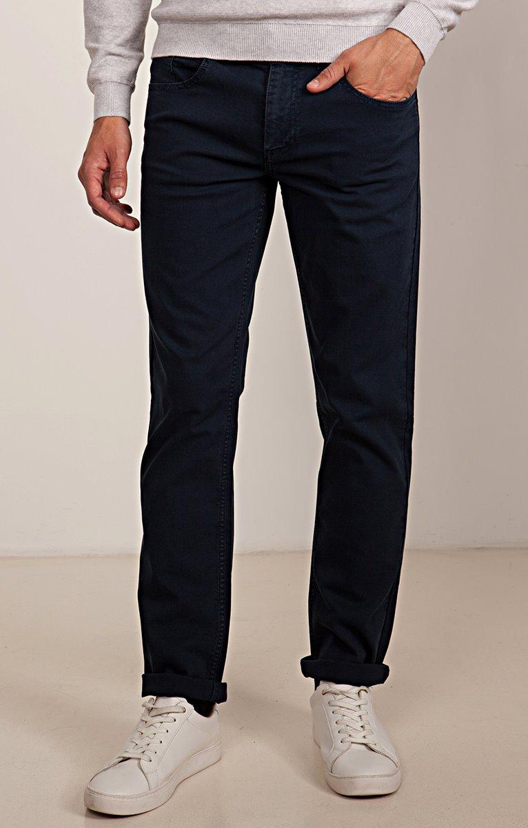 Pantalon 5 poches coupe régular Dobby