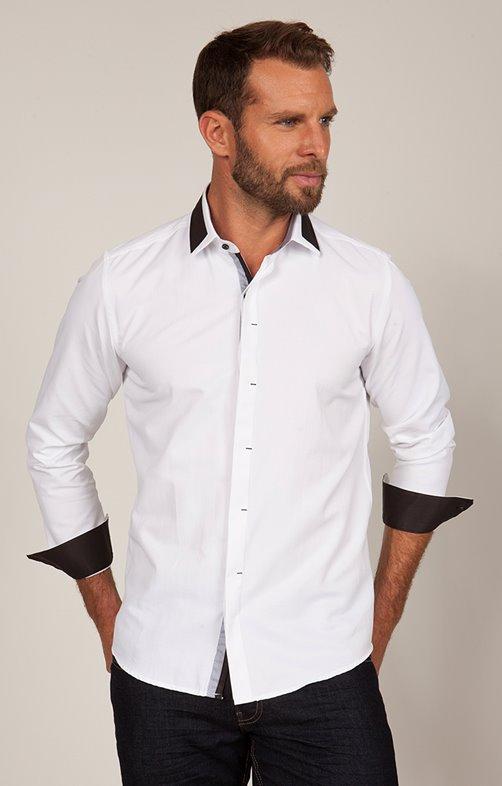 chemise manche longue uni