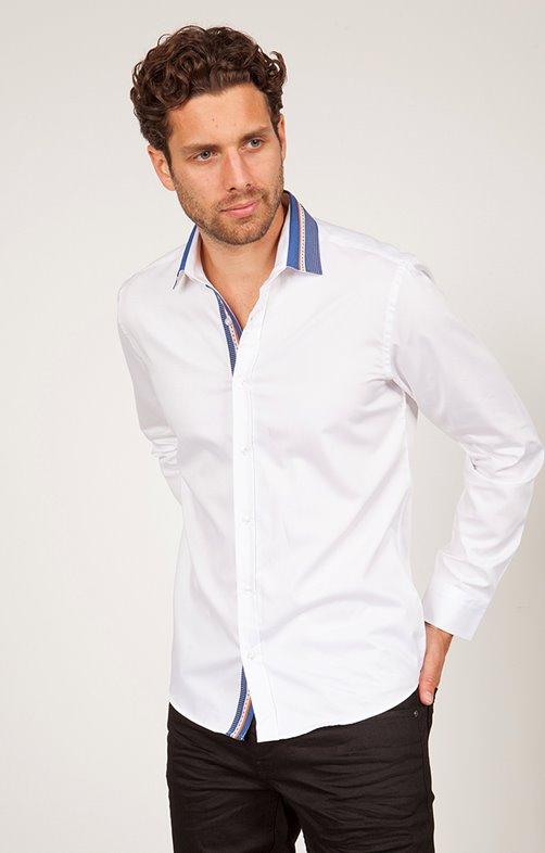 chemise coton manches longues