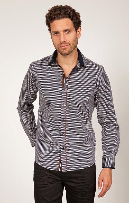chemise coton manches longues imprimée