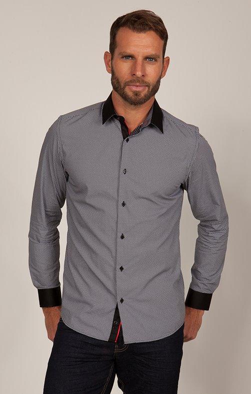 chemise impirmée manches longues