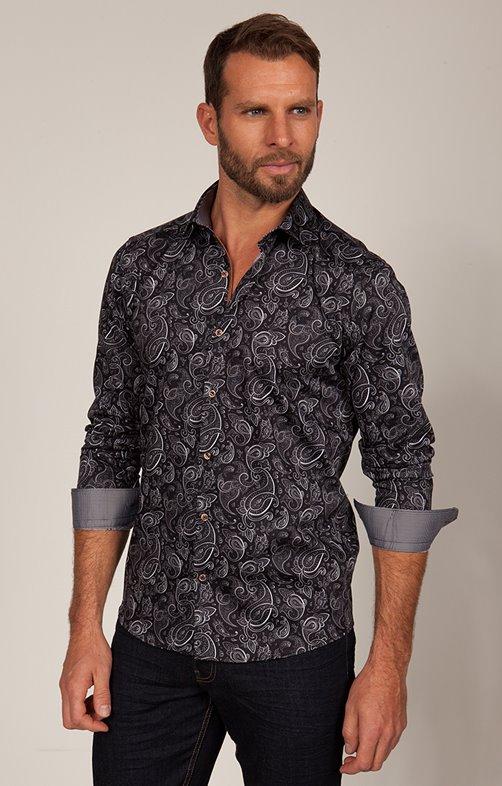 chemise imprimée manches longues