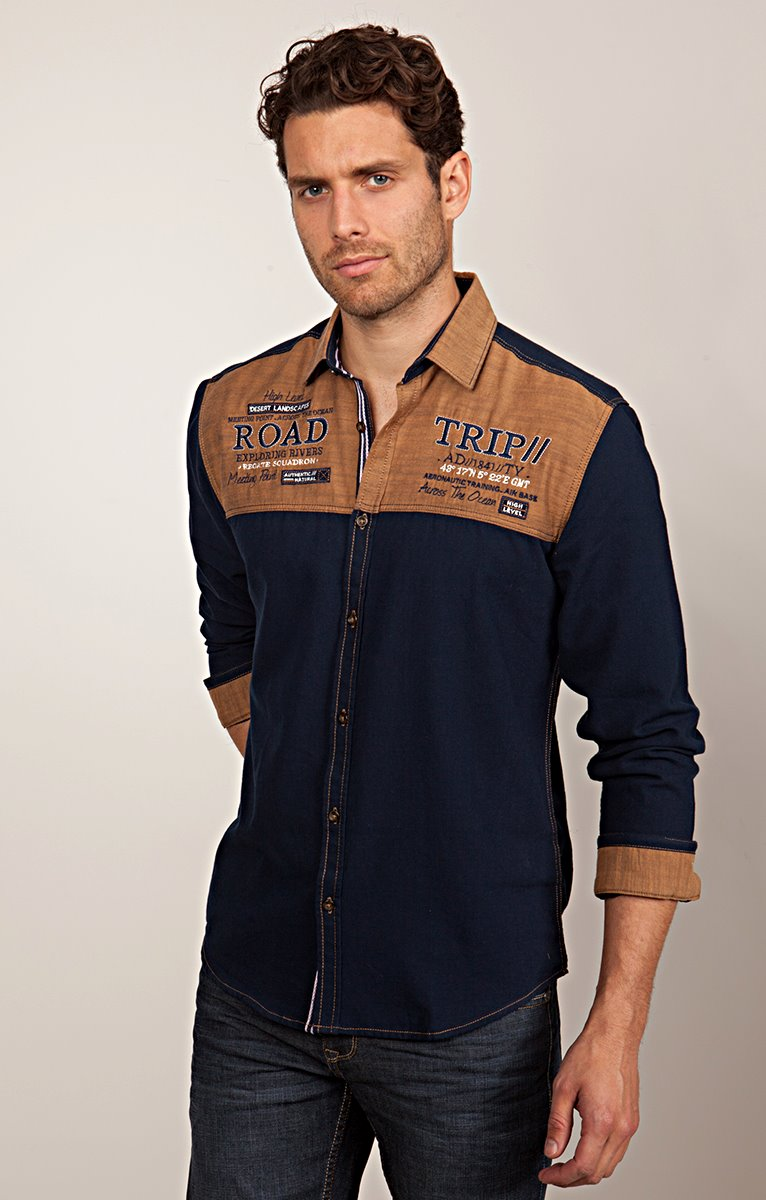 Chemise Casual Avec Broderies