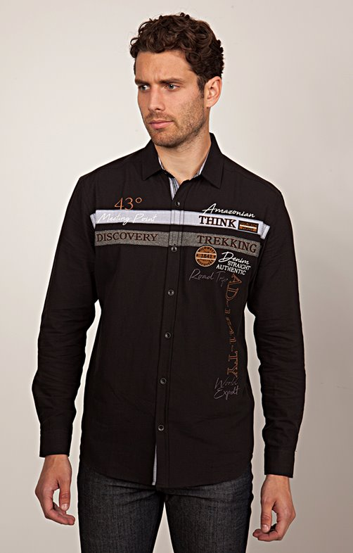 Chemise Casual - Découpes & Broderies