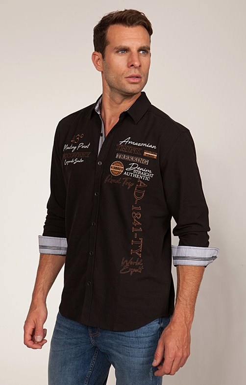 Chemise Casual à Broderies