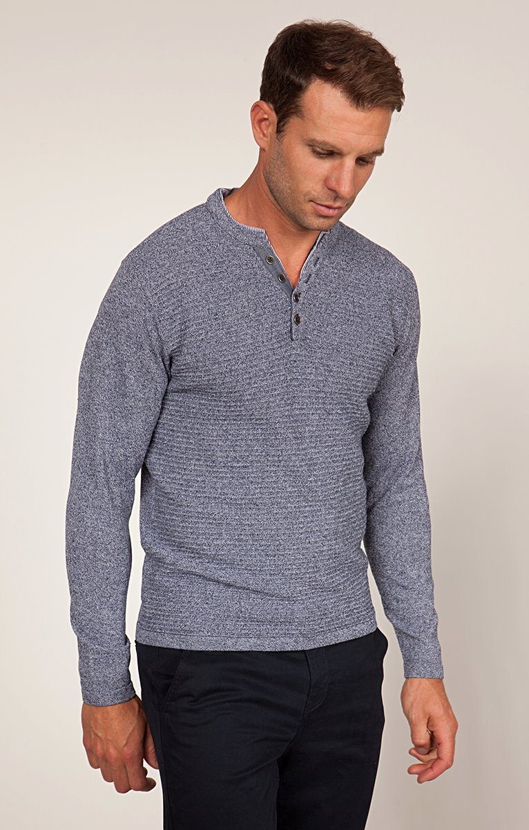 PULL COL TUNISIEN FIBRES RECYCLEES