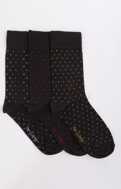 3 paires de chaussettes à pois