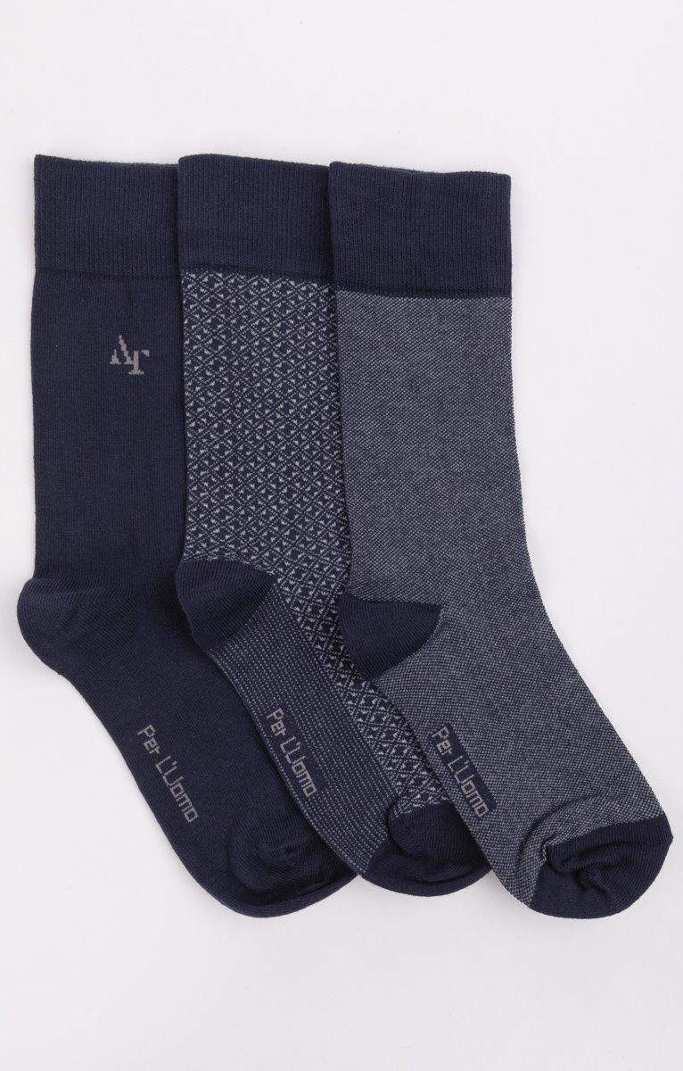 3 paires de chaussettes à motifs