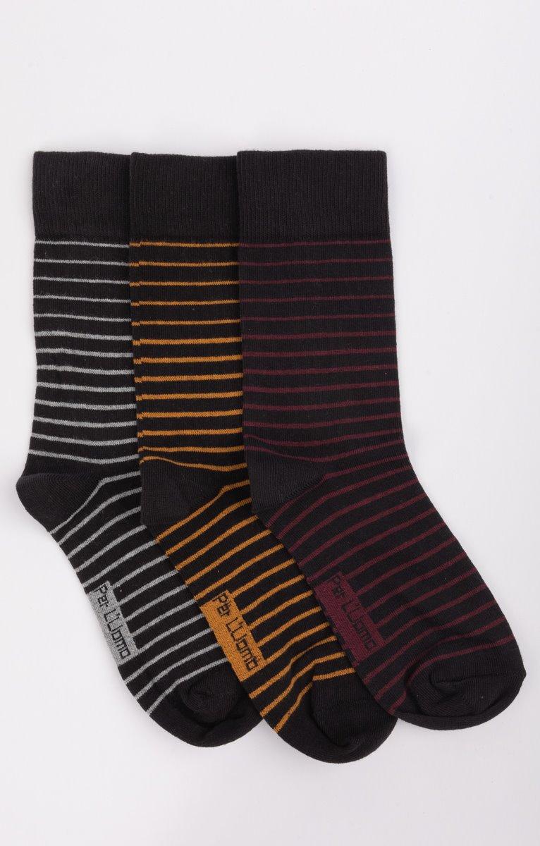 3 paires de chaussettes rayées