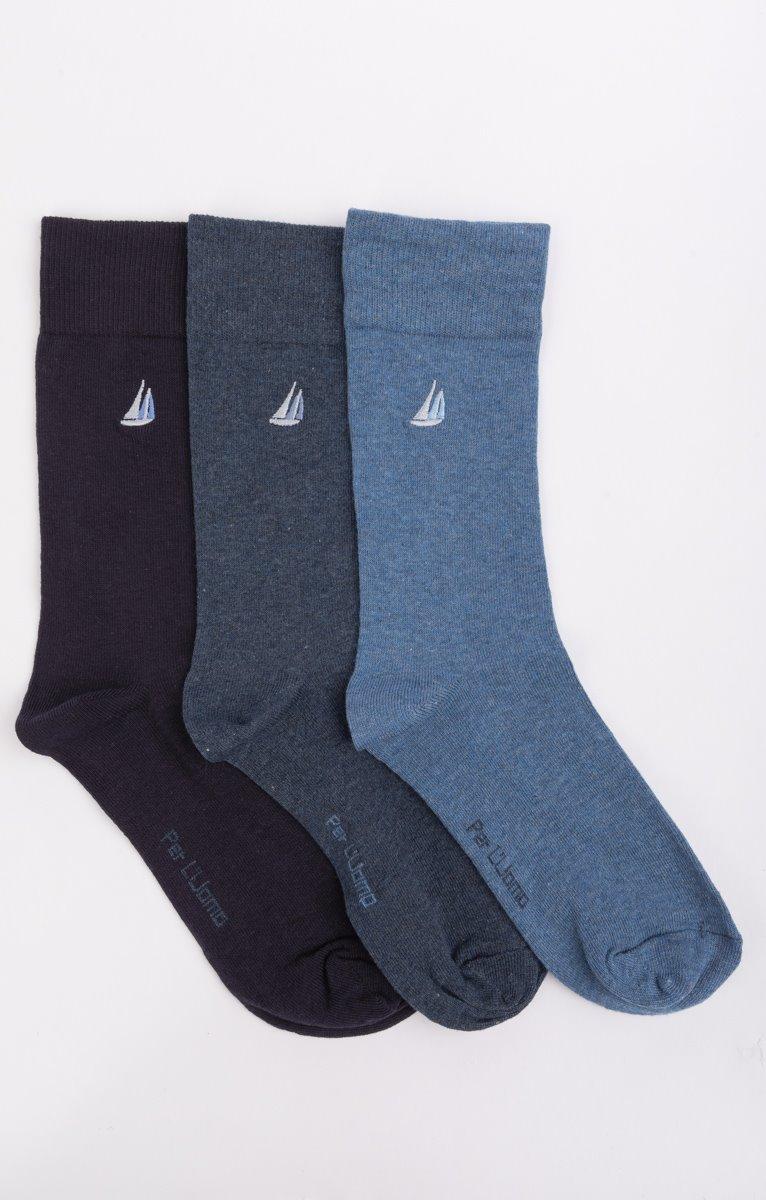 3 paires de chaussettes brodées