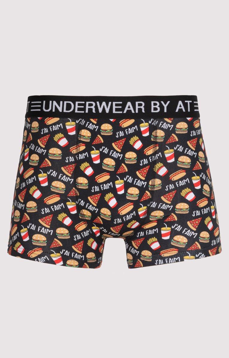 Boxer à imprimé fast-food