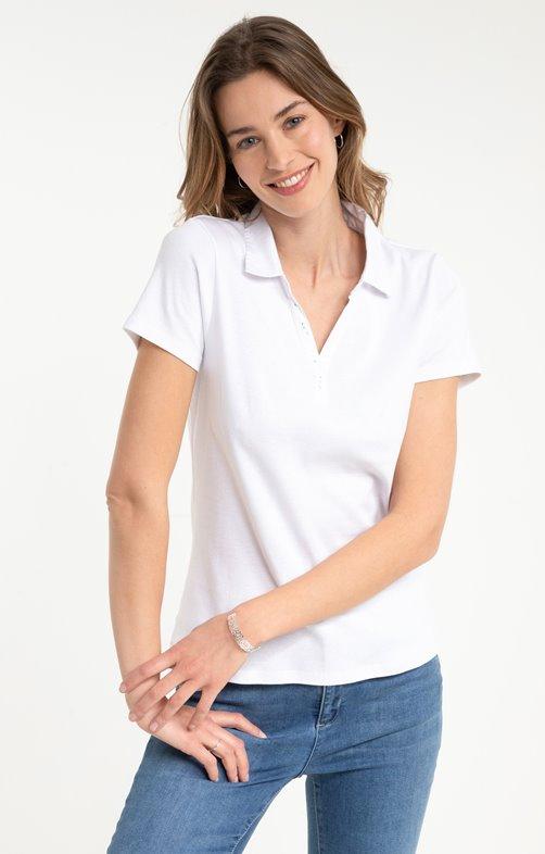 tee shirt manches courtes col polo