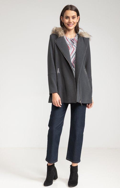 Manteau zippé capuche