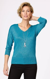 PULL BRILLANT A STRASS