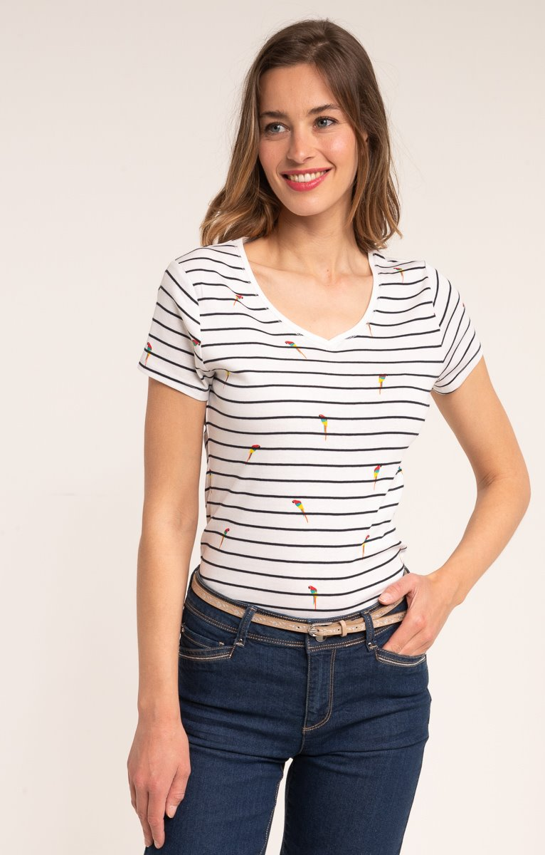 tee shirt manches courtes col v