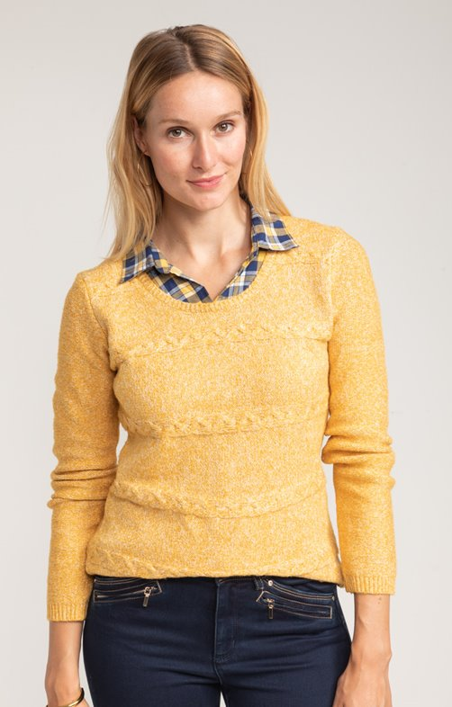 PULL COL CHEMISE CARREAUX