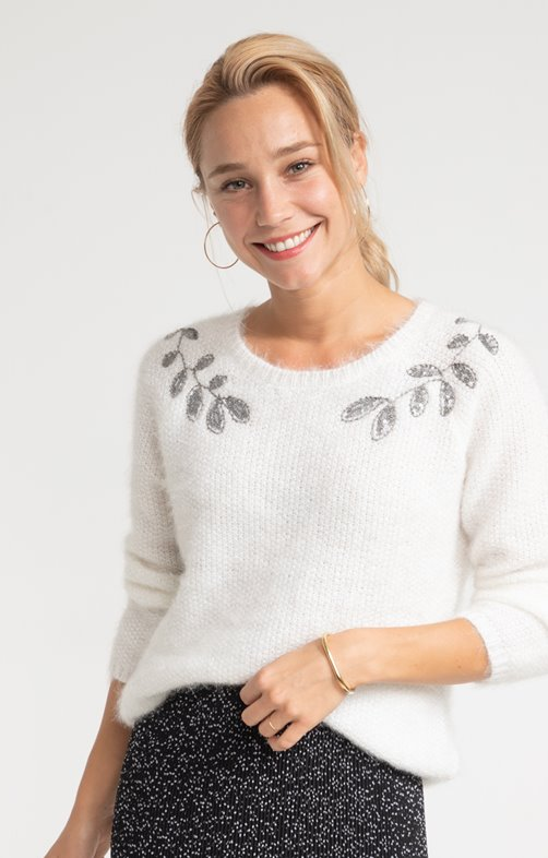 PULL BRODERIES SEQUINS