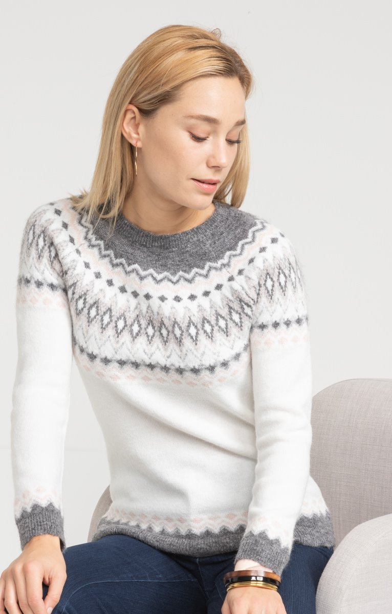 PULL COL ROND JACQUARD
