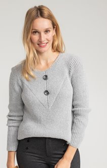 PULL MANCHES LONGUES EN MAILLE PERLEE