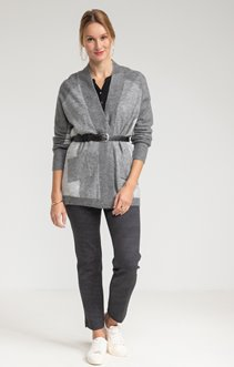 Cardigan color block