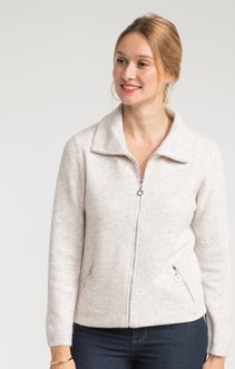 CARDIGAN ZIPPE COL CAMIONEUR