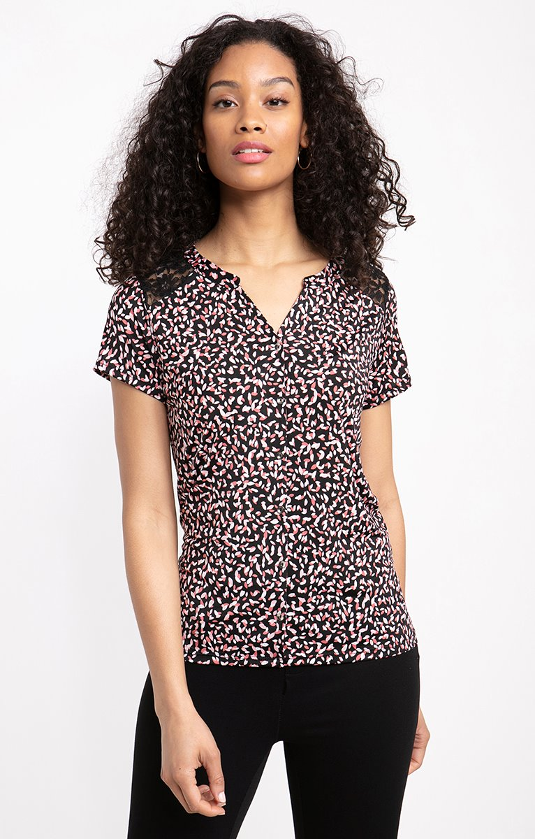 tee shirt forme chemise manches 3/4