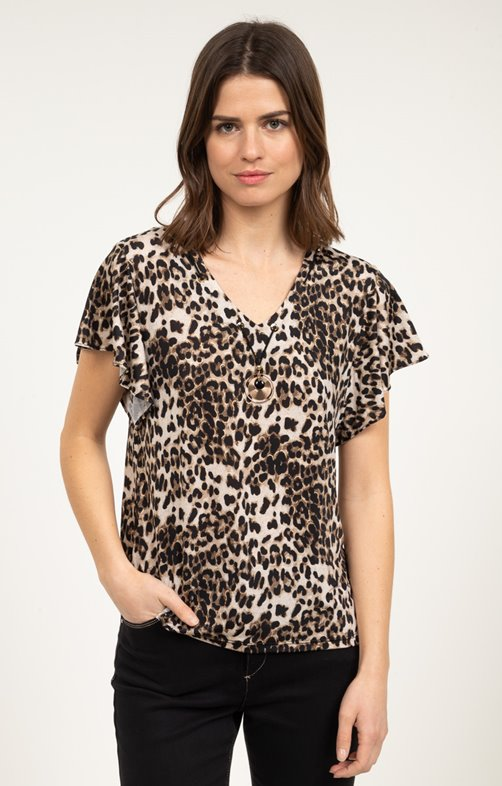 tee shirt manches courtes en maille