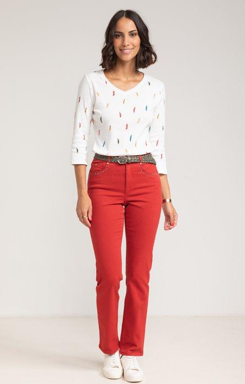 Pantalon en coton mélangé