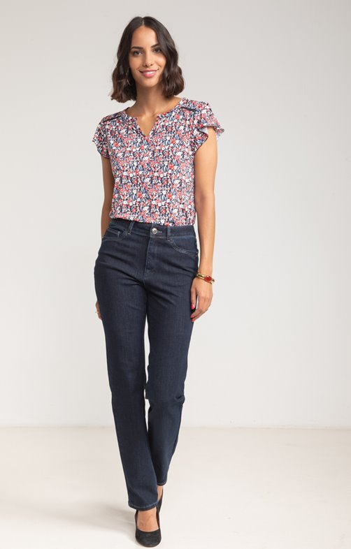 PANTALON DENIM BI STRETCH AVEC SEQUIN