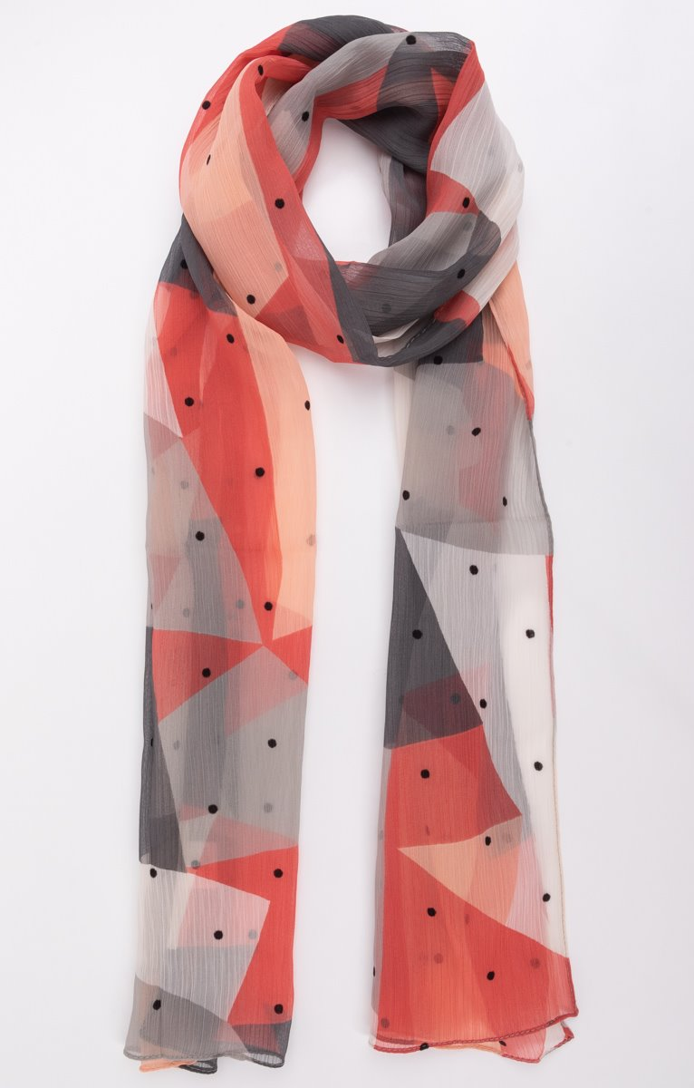 Petit foulard en chiffon imprimé