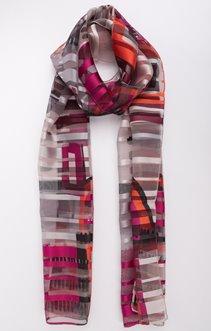 Petit foulard à bande satin