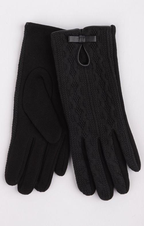 Gant uni noir fantaisie