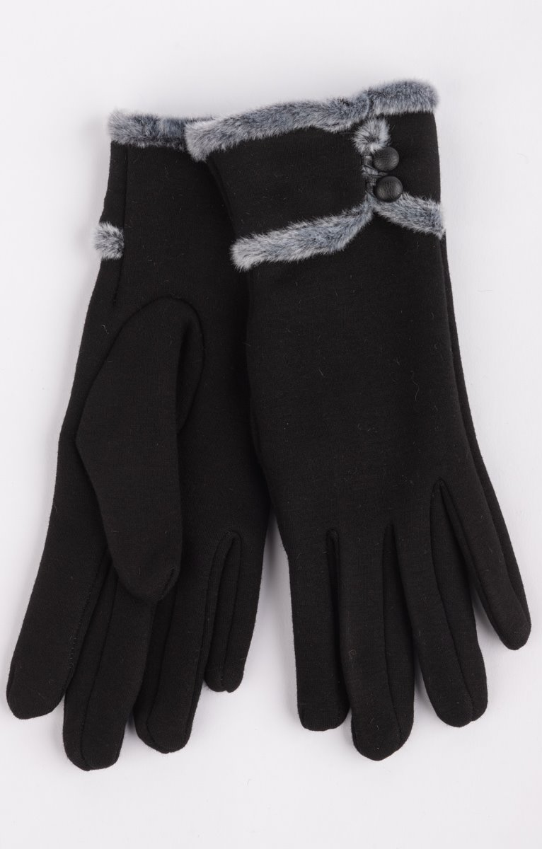 Gant noir fantaisie