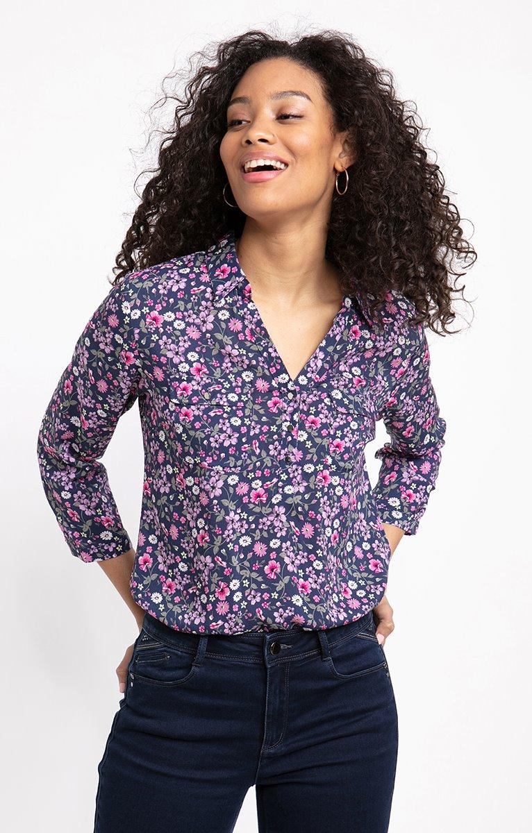 Chemise boutonnée avec col chemise