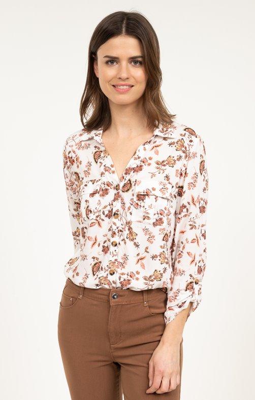 Chemise boutonnée col chemise