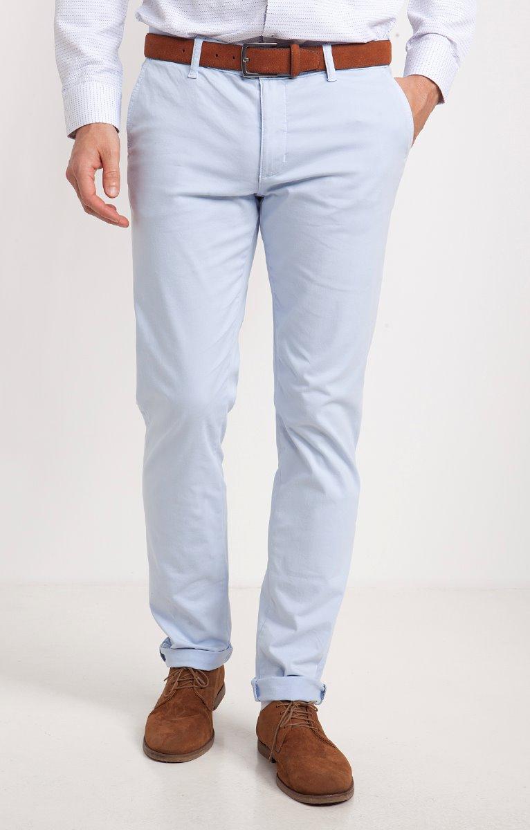 Pantalon chino couleur