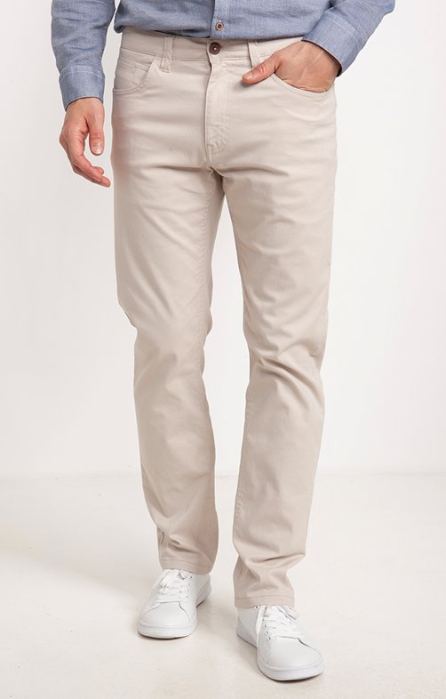 Pantalon 5 poches Cream