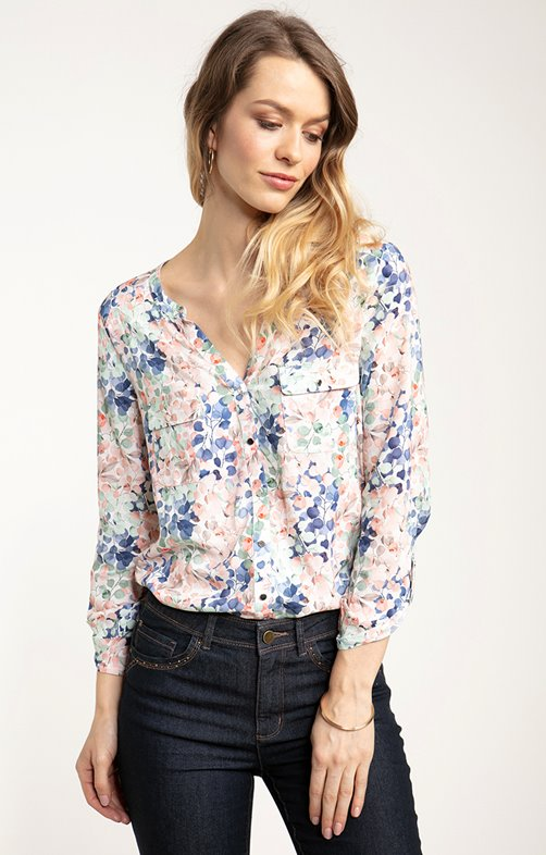 Chemise avec col mao
