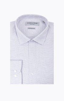 chemise manches longues faux-uni