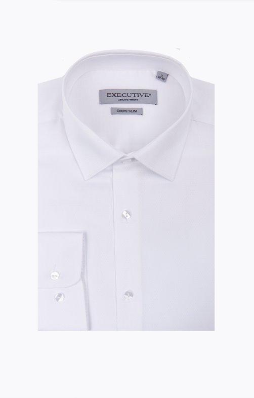 chemise manches longues unie