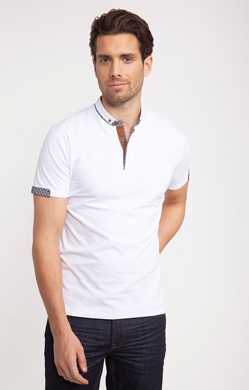 Polo à manches courtes White