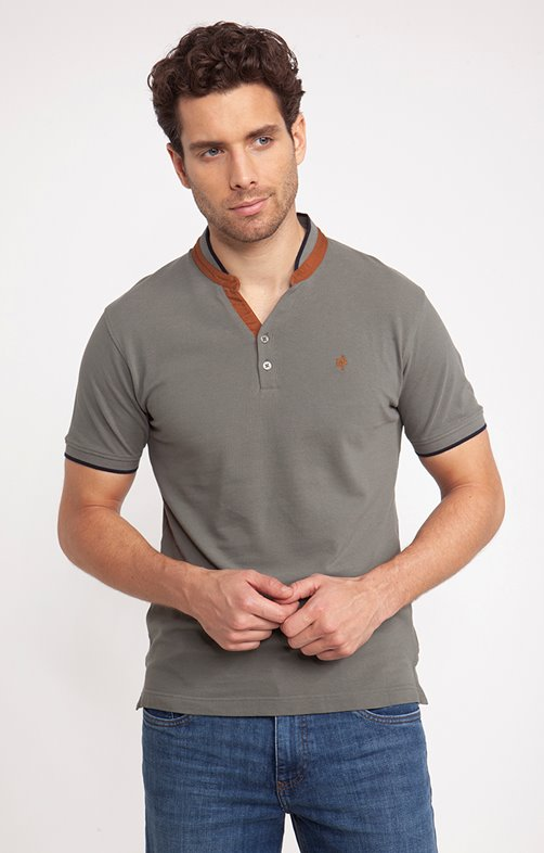 Tee-shirt manches courtes camel