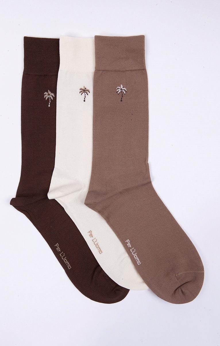 Chaussettes mercerisées à motifs