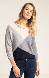 PULL COLOR BLOCK EN COTE